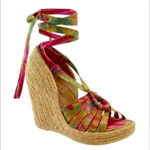 Sam Edelman S Lexi Lace Up Platform Wedge Heels